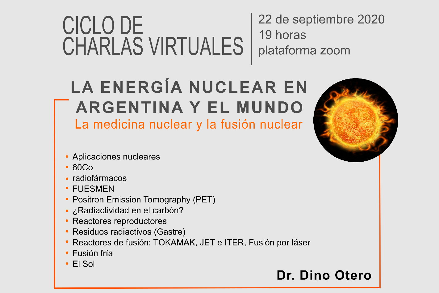 """Charla Virtual """"La Energía nuclear en Argentina y el mundo"""" (Conferencia 2)"""