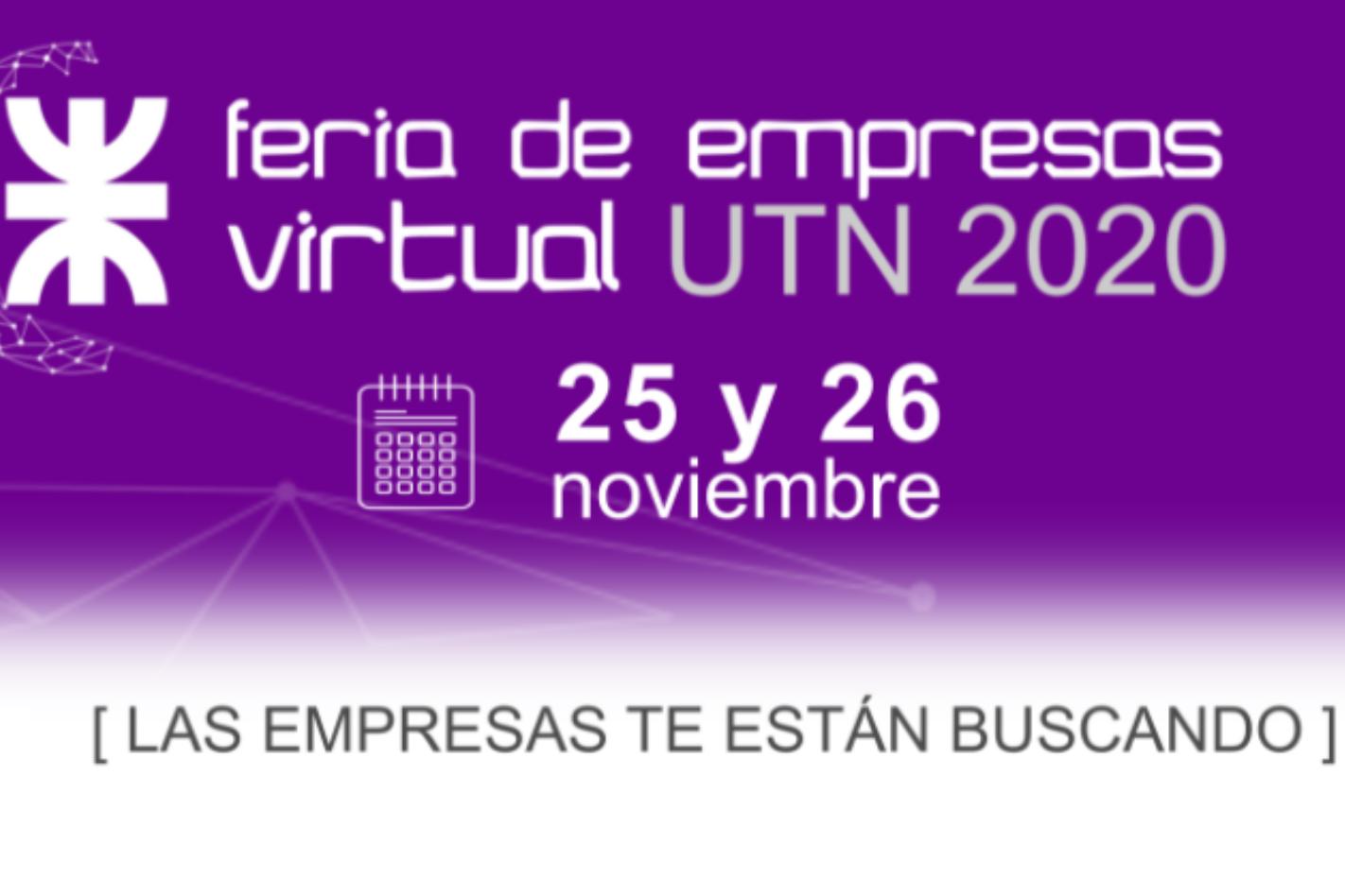 Feria de empresas virtual 2020: las empresas buscan talentos en la UTN