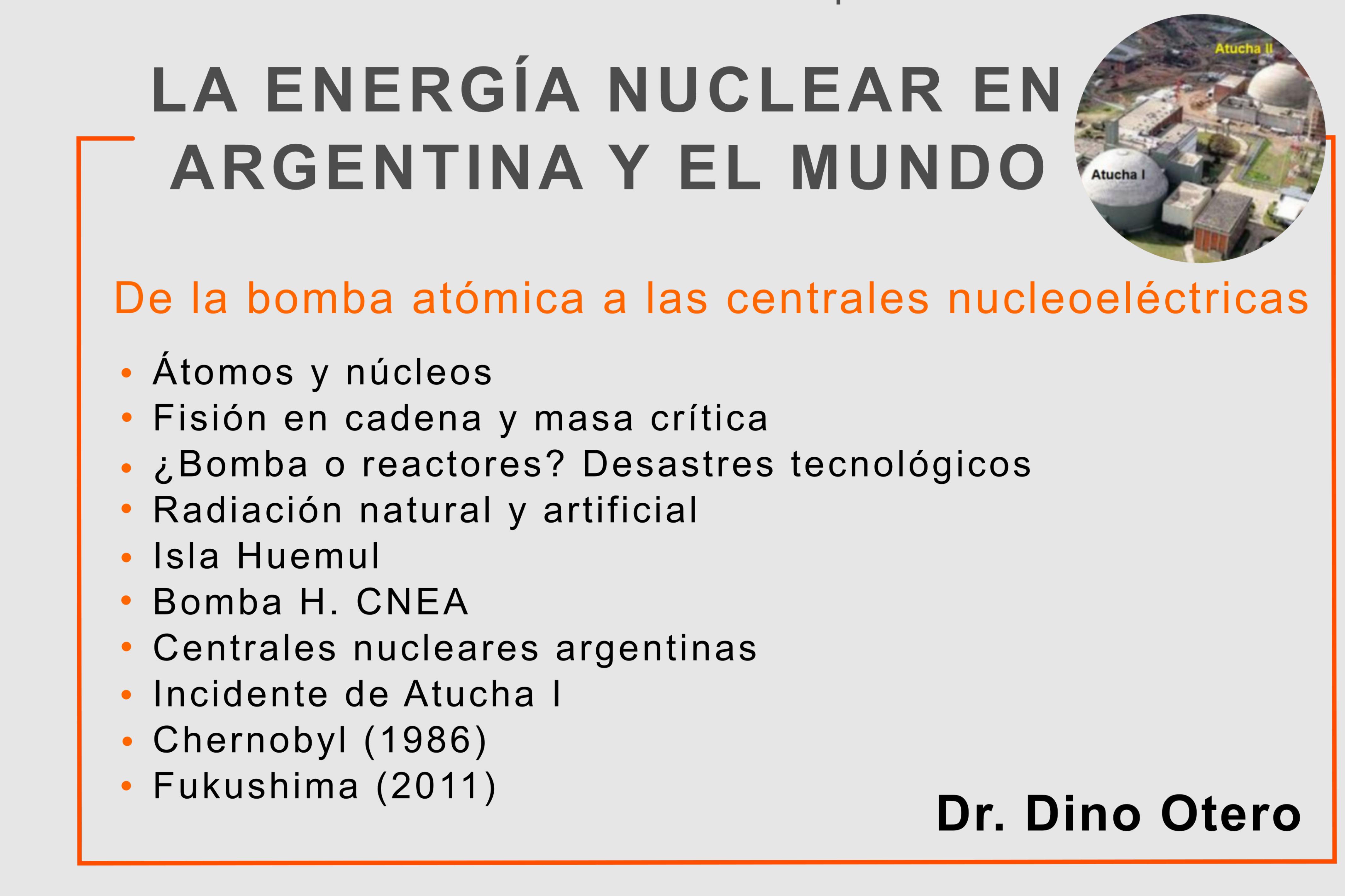 """""""La Energía nuclear en Argentina y el mundo"""" - Charla Virtual"""