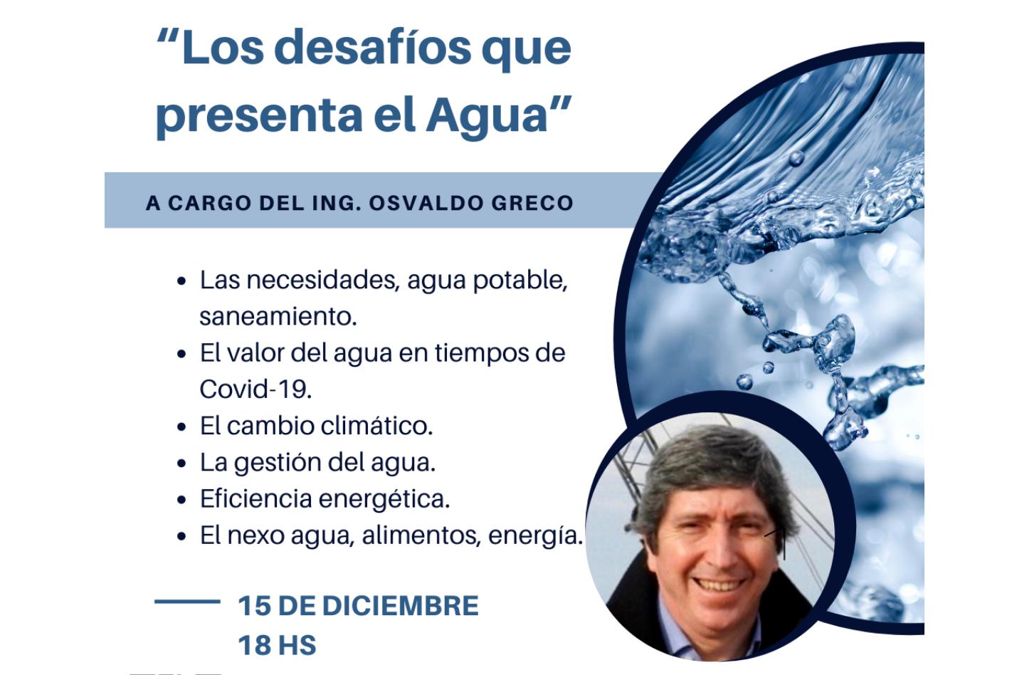 Charla: Los desafíos que presenta el agua