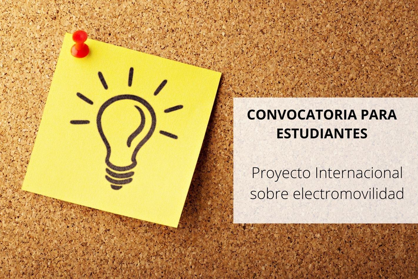 Convocatoria a estudiantes - Proyecto Internacional sobre electromovilidad