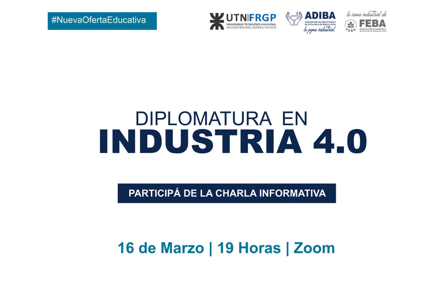 Charla Informativa: Diplomatura en Industria 4.0