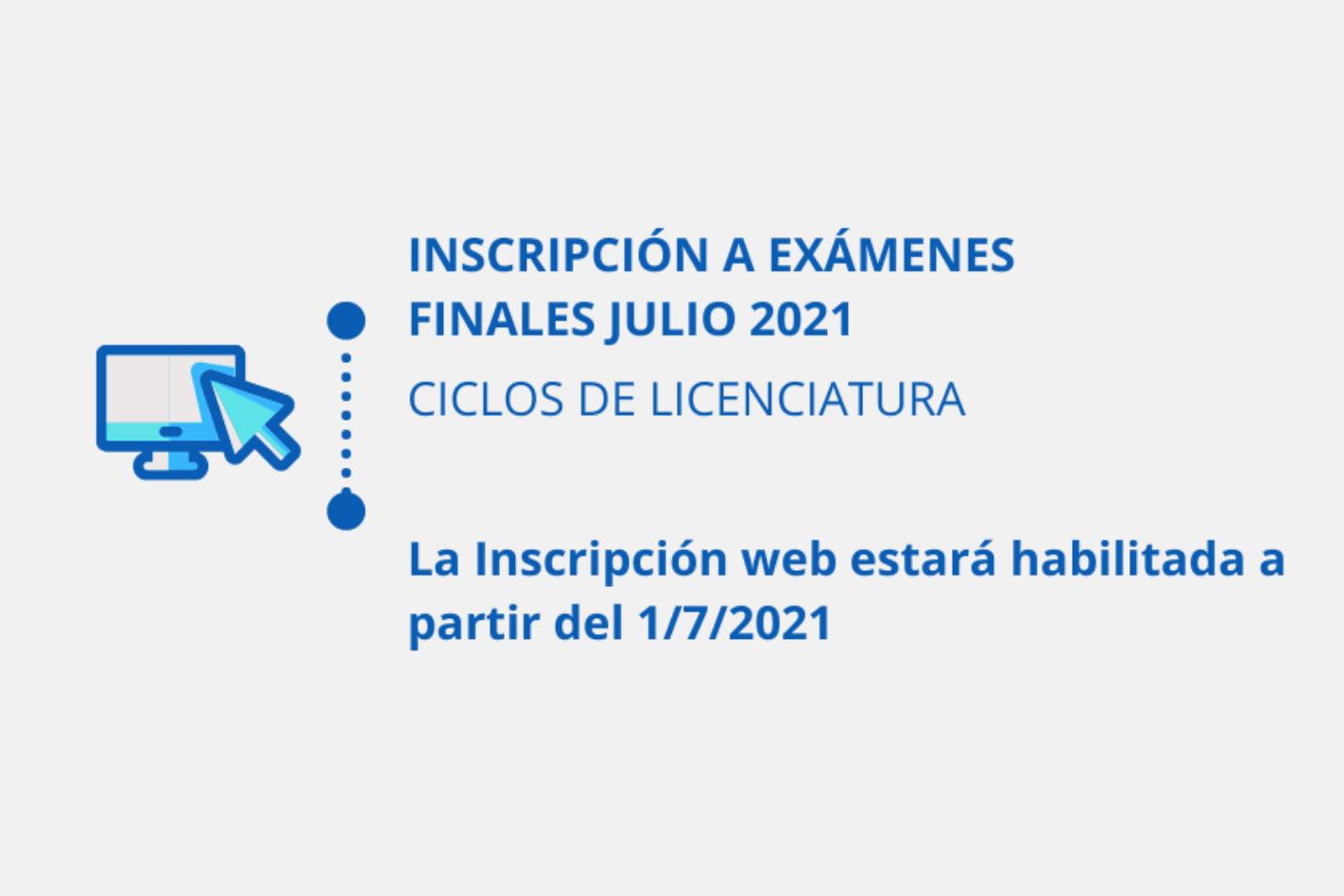 Inscripción a finales Julio 2021- Ciclos de Licenciatura