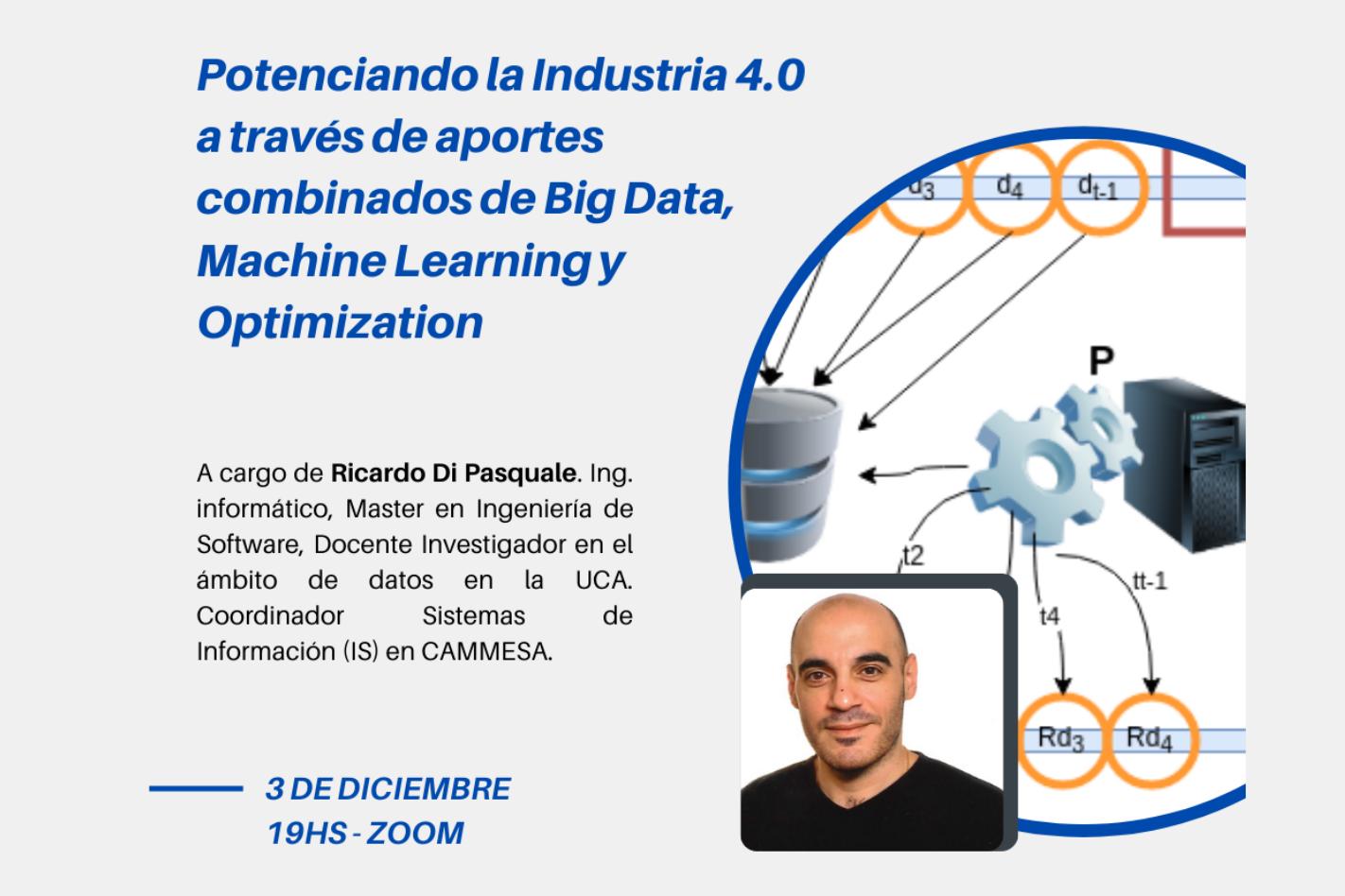 """""""Potenciando la Industria 4.0 a través de aportes combinados de Big Data, Machine Learning y Optimization"""""""