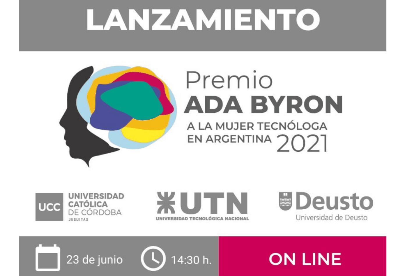 Lanzamiento Premio Ada Byron a la Mujer Tecnóloga y Científica 2021